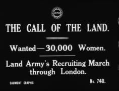 GAUMONT GRAPHIC 740 - WOMEN'S LAND ARMY [Main Title]  collection item